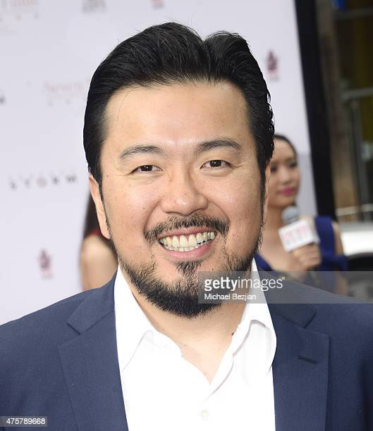 Film Director Justin Lin poses for portrait at Bruno Wu and Seven Stars Entertainment Sponsor TCL Chinese Theatre Handprints For Director Justin Lin...