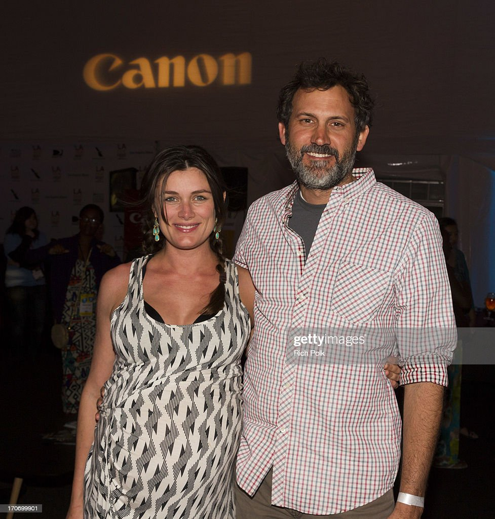 Film director <a gi-track='captionPersonalityLinkClicked' href=/galleries/search?phrase=Kat+Coiro&family=editorial&specificpeople=7114260 ng-click='$event.stopPropagation()'>Kat Coiro</a> and cinematographer Doug Chamberlain attend the Canon Celebrates Storytellers event - 2013 Los Angeles Film Festival held at the L.A. Live Event Deck on June 15, 2013 in Los Angeles, California.