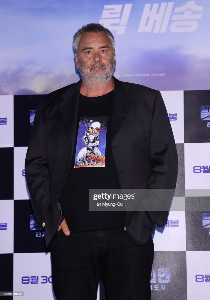 Film director Luc Besson attends the film 'Valerian' press conference at Yongsan CGV on August 22, 2017 in Seoul, South Korea. The film will open on August 30, in South Korea.