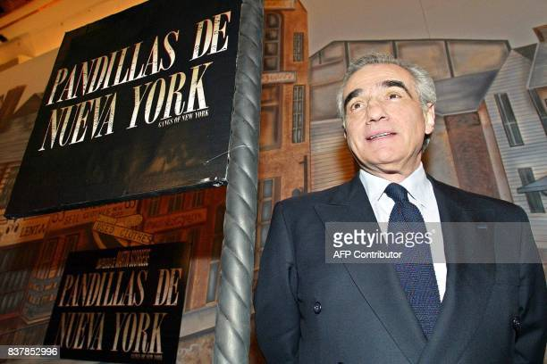 Film director Martin Scorsese poses for photographs 21 January in Mexico City before a press conference to present his movie 'Gangs of New York'...