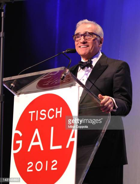Film director Martin Scorsese speaks at the Tisch School Of The Art's Gala 2012 at The New York Marriott Marquis on April 19 2012 in New York City