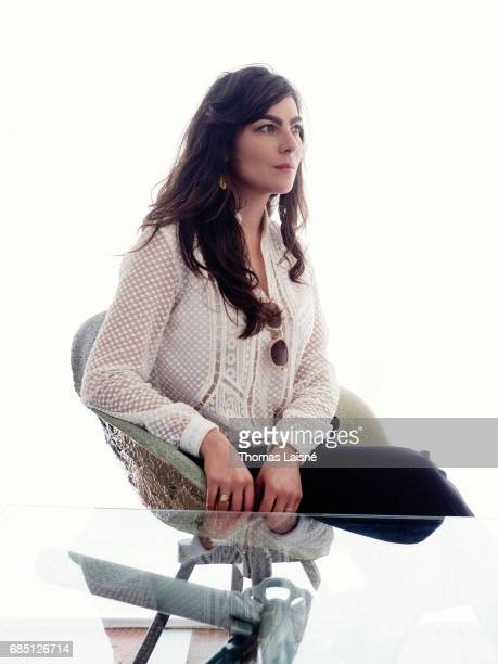Film director Maryam Goormaghtigh is photographed on May 18 2017 in Cannes France