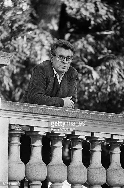 Film director Milos Forman in Paris for the premiere of his successful new movie Amadeus which won eight Academy Awards