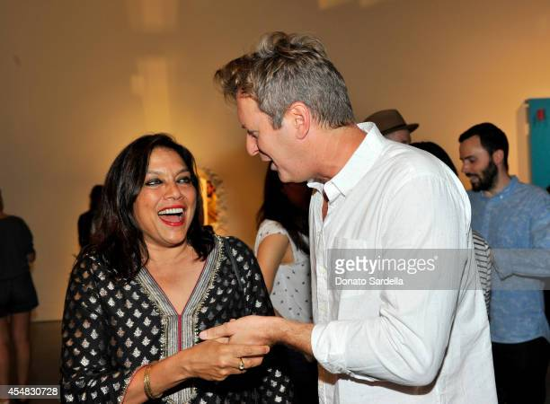 Film director Mira Nair and artist Doug Aitken attend the Doug Aitken Still Life Opening Reception and Dinner at Regen Projects on September 6 2014...