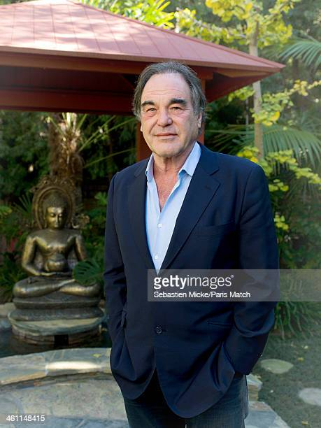 Film director Oliver Stone is photographed at home for Paris Match on December 4 2013 in Los Angeles California