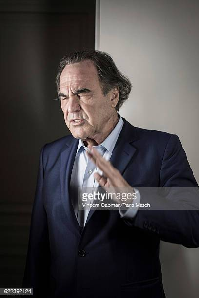 Film director Oliver Stone is photographed for Paris Match on October 10 2016 in Paris France