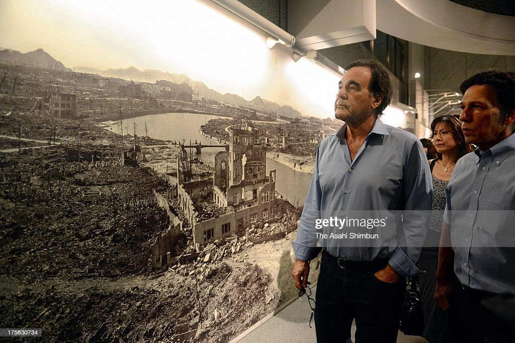 Film Director <a gi-track='captionPersonalityLinkClicked' href=/galleries/search?phrase=Oliver+Stone&family=editorial&specificpeople=173458 ng-click='$event.stopPropagation()'>Oliver Stone</a> visits the Hiroshima Peace Memorial Museum on August 4, 2013 in Hiroshima, Japan. Stone will attend the Peace Memorial on August 6 in Hiroshima and Nagasaki on August 9.