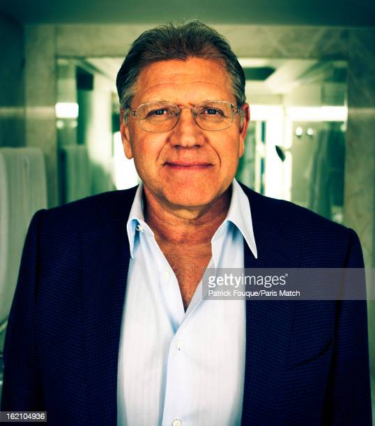 Film director Robert Zemeckis is photographed for Paris Match on January 16 2013 in Paris France