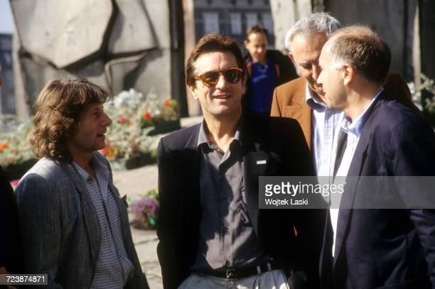 Film director Roman Polanski and American actor Robert De Niro during their visit to Gdansk where they met with activists of the Polish trade union...