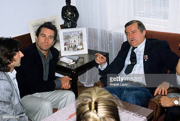 Film director Roman Polanski and American actor Robert De Niro paid a visit to 'Solidarity' trade union leader Lech Walesa in Gdansk on 26th...