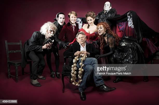 Film director Roman Polanski is photographed with the cast for the production of the Vampires Ball for Paris Match on September 5 2014 in Paris France