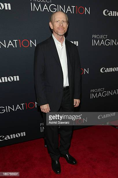 Film director Ron Howard attends the Premiere Of Canon's Project Imaginat10n Film Festival at Alice Tully Hall on October 24 2013 in New York City