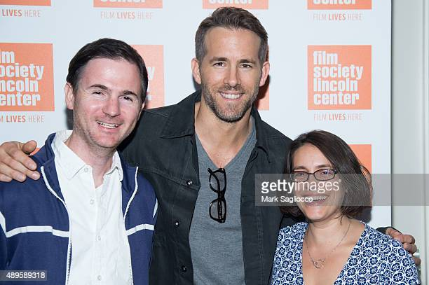 Film Director Ryan Fleck Actor Ryan Reynolds and Film Director Anna Boden attend the sneak preview of 'Mississippi Grind' at The Film Society of...