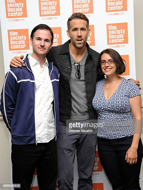 Film Director Ryan Fleck actor Ryan Reynolds and film director Anna Boden attend The Film Society of Lincoln Center sneak previews 'Mississippi...