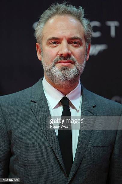 Film director Sam Mendes looks on during the red carpet of the 'Spectre' film premiere at Auditorio Nacional on November 02 2015 in Mexico City Mexico