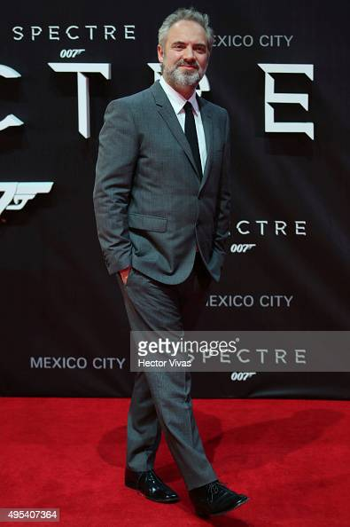Film director Sam Mendes poses for pictures during the red carpet of the 'Spectre' film premiere at Auditorio Nacional on November 02 2015 in Mexico...