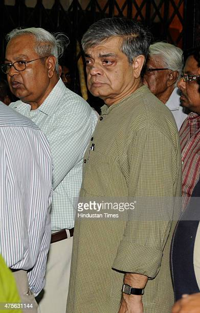 Film director Sandip Ray son of Bijoya Ray and famous Indian filmmaker Satyajit Ray after death of his mother at Keoratala Burning Ghat on June 2...