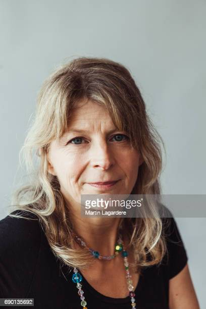 Film director Sonia Kronlund is photographed on May 25 2017 in Cannes at Majestic Beach France