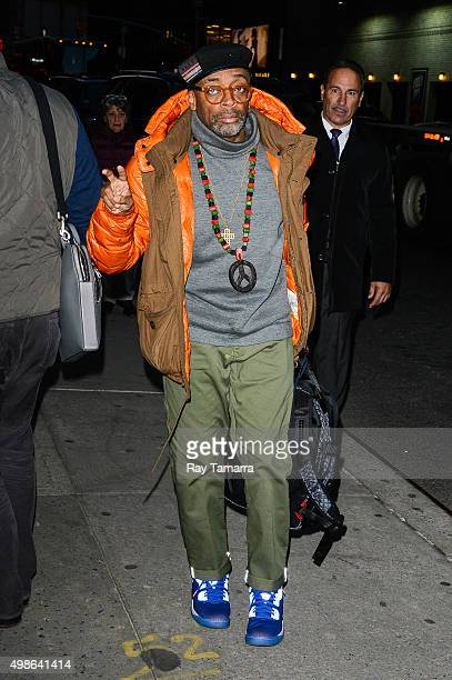 Film director Spike Lee enters the 'The Late Show With Stephen Colbert' taping at the Ed Sullivan Theater on November 24 2015 in New York City