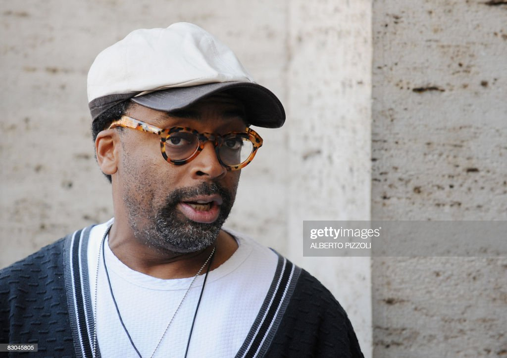 US film director Spike Lee poses during the photocall of his new movie 'Miracle at St. Anna' on September 29, 2008 in Rome. 'Miracle at St. Anna' is about the forgotten contribution of African-American soldiers to the war that freed Europe from Nazi tyranny and follows four members of the all-black 92nd 'Buffalo Soldier' Infantry Division trapped behind enemy lines in Nazi-occupied Italy in 1944.