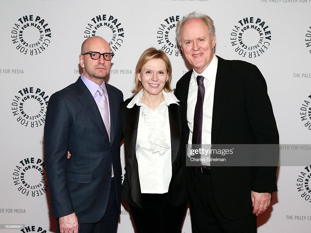 Film director Steven Soderbergh, Terre Blair Hamlisch and actor <a gi-track='captionPersonalityLinkClicked' href=/galleries/search?phrase=John+Lithgow&family=editorial&specificpeople=202537 ng-click='$event.stopPropagation()'>John Lithgow</a> attend The Paley Center For Media Presents: The Music And Life Of Marvin Hamlisch at Paley Center For Media on March 18, 2013 in New York City.
