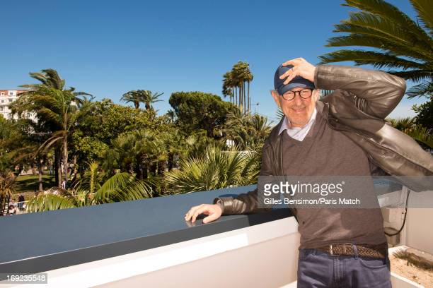 Film director Steven Spielberg is photographed for Paris Match on May 20 2013 in Cannes France