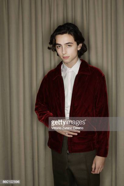 Film director Timothee Chalamet is photographed during the 61st BFI London Film Festival on October 9 2017 in London England