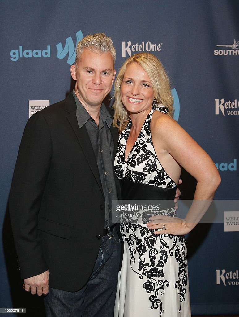 Film director Travis Fine and his wife Kristine attend the 24th Annual GLAAD Media Awards at the Hilton San Francisco - Union Square on May 11, 2013 in San Francisco, California.