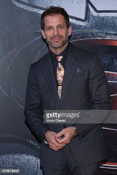 Film director Zack Snyder attends the 'Batman v Superman Dawn of Justice' world premiere Mexico City at Auditorio Nacional on March 19 2016 in Mexico...