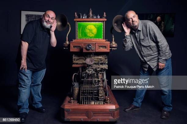 Film directors Marc Caro and Jean Pierre Jeunet are photographed for Paris Match on September 5 2017 in Paris France