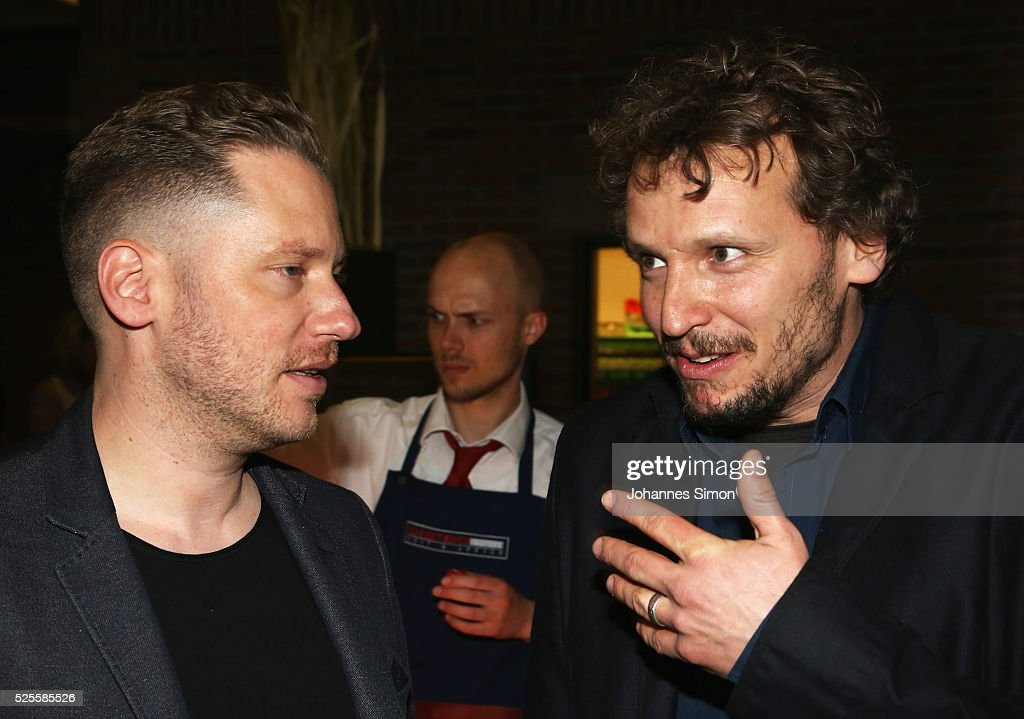 Film directors <a gi-track='captionPersonalityLinkClicked' href=/galleries/search?phrase=Marco+Kreuzpaintner&family=editorial&specificpeople=636556 ng-click='$event.stopPropagation()'>Marco Kreuzpaintner</a> (L) and Marcus H. Rosenmueller attend the FilmFernsehFonds Bayern celebrations at Gasteig Carl-Orff-Saal on April 28, 2016 in Munich, Germany.