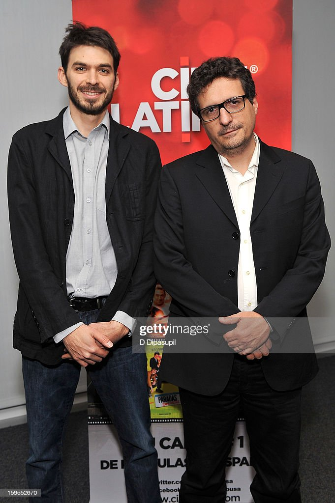 Film directors Matias Meyer (L) and Kleber Mendonca attend the 3rd annual Cinema Tropical awards at The New York Times Headquarters on January 15, 2013 in New York City.