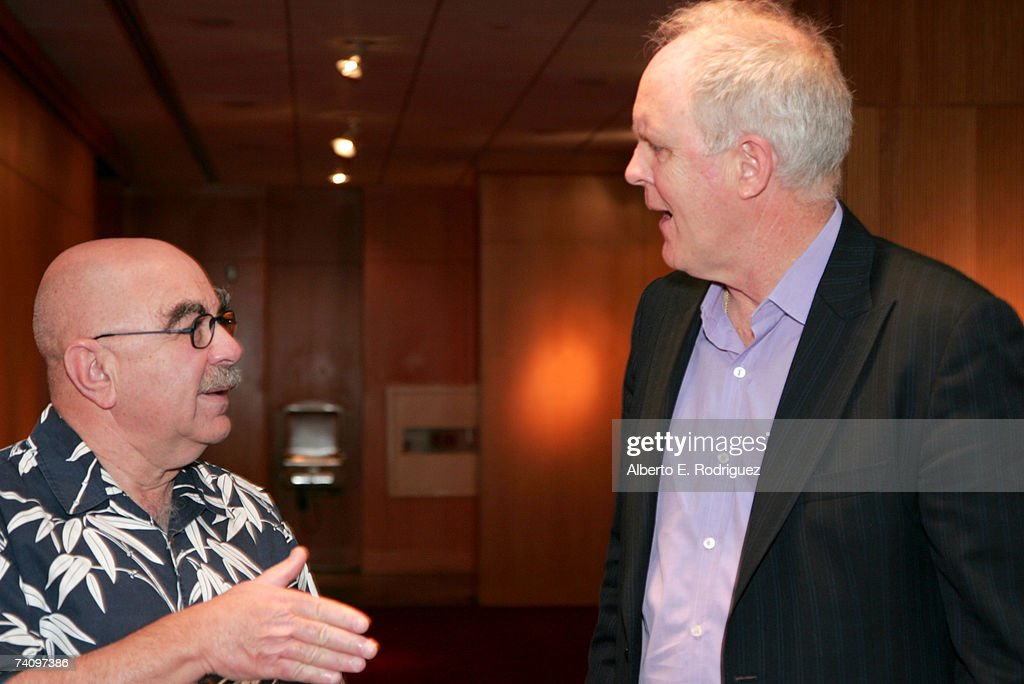 Film editor Alan Heim and actor John Lithgow attend the AMPAS Great To Be Nominated Series screening of 'All That Jazz' on May 7 2007 in Los Angeles...