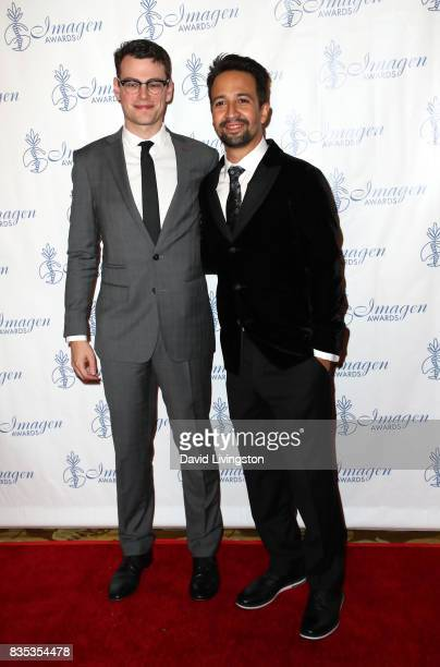 Film editor Alex Horwitz and actor LinManuel Miranda attend the 32nd Annual Imagen Awards at the Beverly Wilshire Four Seasons Hotel on August 18...
