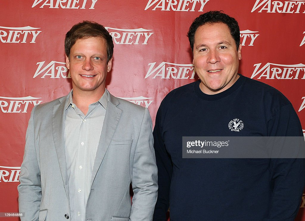 Film Editor at Variety Josh Dickey and director/writer/actor <a gi-track='captionPersonalityLinkClicked' href=/galleries/search?phrase=Jon+Favreau&family=editorial&specificpeople=239483 ng-click='$event.stopPropagation()'>Jon Favreau</a> attend Variety's 2011 Entertainment And Technology Summit at Ritz Carlton Hotel on October 17, 2011 in Marina del Rey, California.
