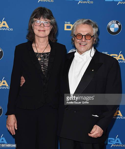 Film editor Margaret Sixel and director George Miller arrive at the 68th Annual Directors Guild of America Awards at the Hyatt Regency Century Plaza...