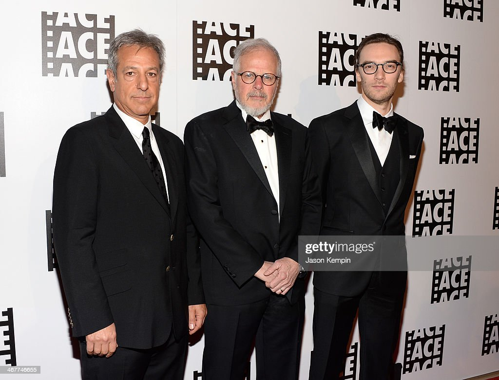 Film Editors Alan Baumgarten Jay Cassidy and Crispin Struthers attend the 64th Annual ACE Eddie Awards at Paramount Studios on February 7 2014 in...