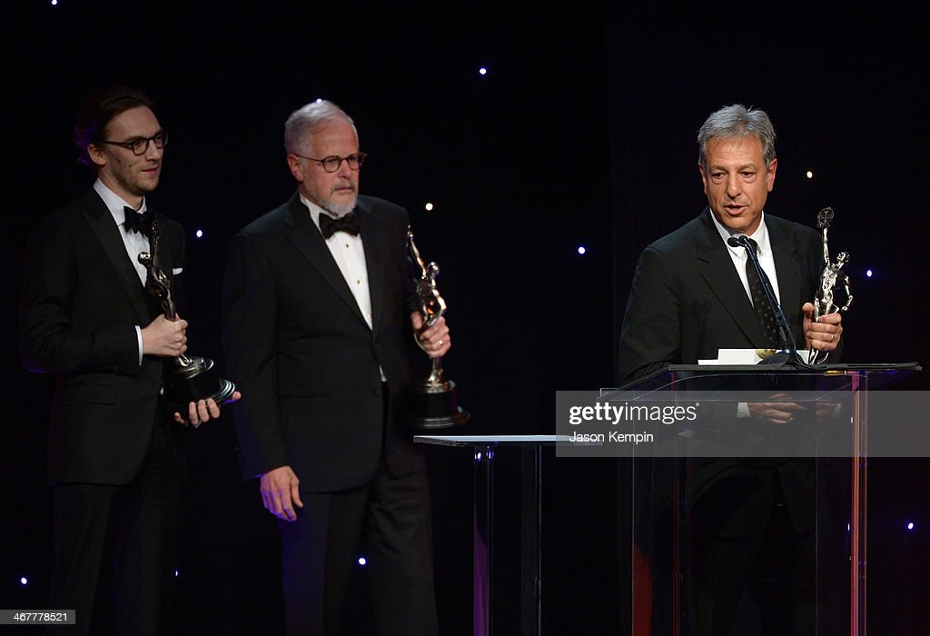 Film editors Crispin Struthers Jay Cassidy and Alan Baumgarten accept award onstage at the 64th Annual ACE Eddie Awards at The Beverly Hilton Hotel...