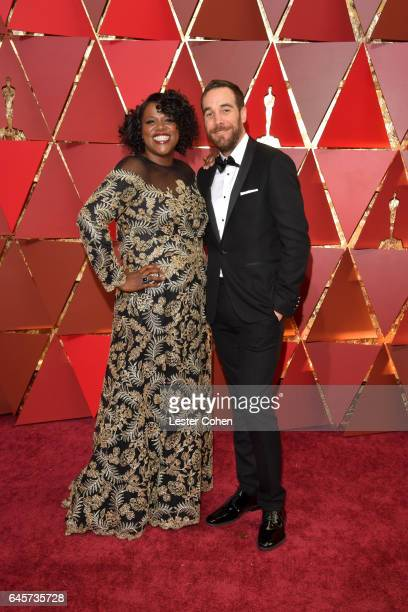 Film editors Joi McMillon and Nat Sanders attend the 89th Annual Academy Awards at Hollywood Highland Center on February 26 2017 in Hollywood...