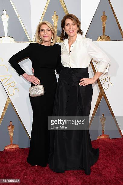 Film editors Mary Jo Markey and Maryann Brandon attend the 88th Annual Academy Awards at Hollywood Highland Center on February 28 2016 in Hollywood...