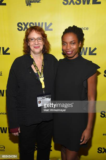 Film Festival Director Janet Pierson and Sasheer Zamata pose for a photo during the SXSW Film Awards 2017 SXSW Conference and Festivals on March 14...