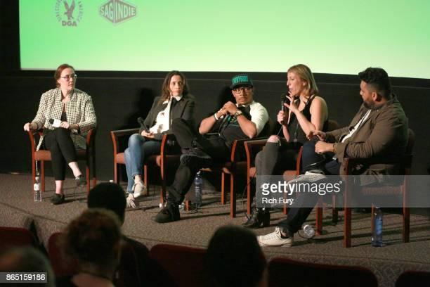 Film Festival Director Jennifer Cochis cofounder of Opaque Studios Mariana Acuña founder of Everybody Digital Allen Maldonado filmmaker Jessica...