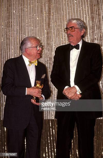 Film festival in Berlin with Golden Bear award In Berlin Germany On February 22 1993Billy Wilder and Gregory Peck