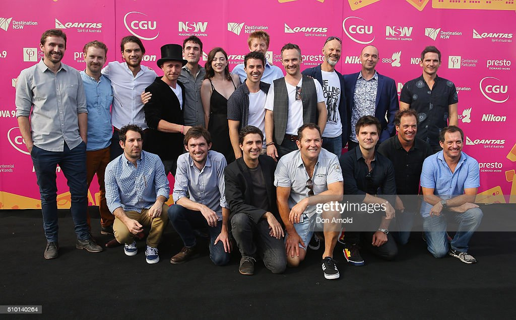 Film finalists directors pose ahead of Tropfest 2016 at Centennial Park on February 14, 2016 in Sydney, Australia.