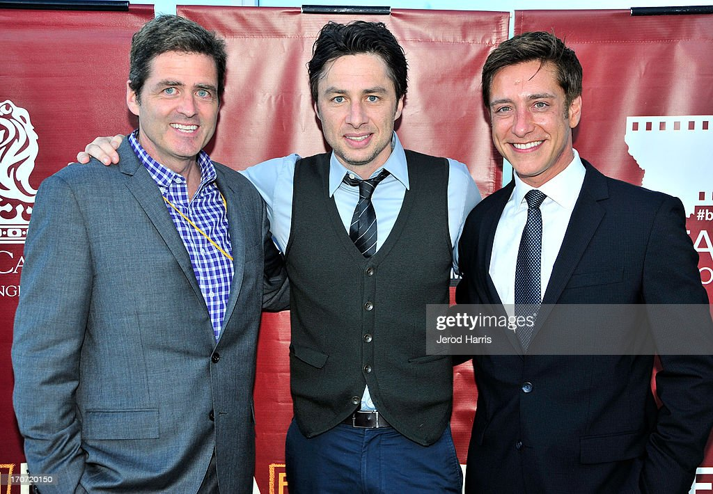 Film Independent co-president Josh Welsh, actor <a gi-track='captionPersonalityLinkClicked' href=/galleries/search?phrase=Zach+Braff&family=editorial&specificpeople=203253 ng-click='$event.stopPropagation()'>Zach Braff</a>, and Film Independent co-president Sean McManus attend the Filmmaker Reception during the 2013 Los Angeles Film Festival at Ritz Carlton on June 16, 2013 in Los Angeles, California.