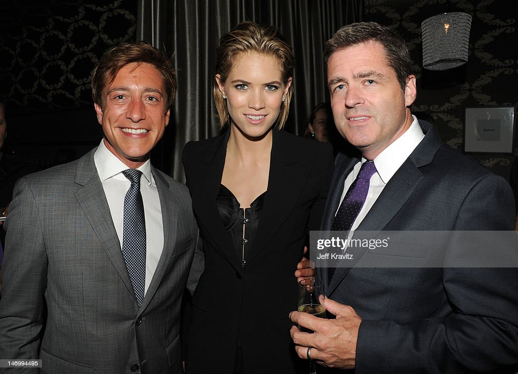 Film Independent copresident Sean McManus actress Cody Horn and Film Independent copresident Josh Welsh attend the after party for the closing night...
