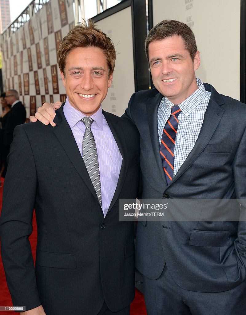 Film Independent co-presidents Sean McManus (L) and Josh Welsh arrive at Film Independent's 2012 Los Angeles Film Festival Premiere of Sony Pictures Classics' 'To Rome With Love' at Regal Cinemas L.A. LIVE Stadium 14 on June 14, 2012 in Los Angeles, California.