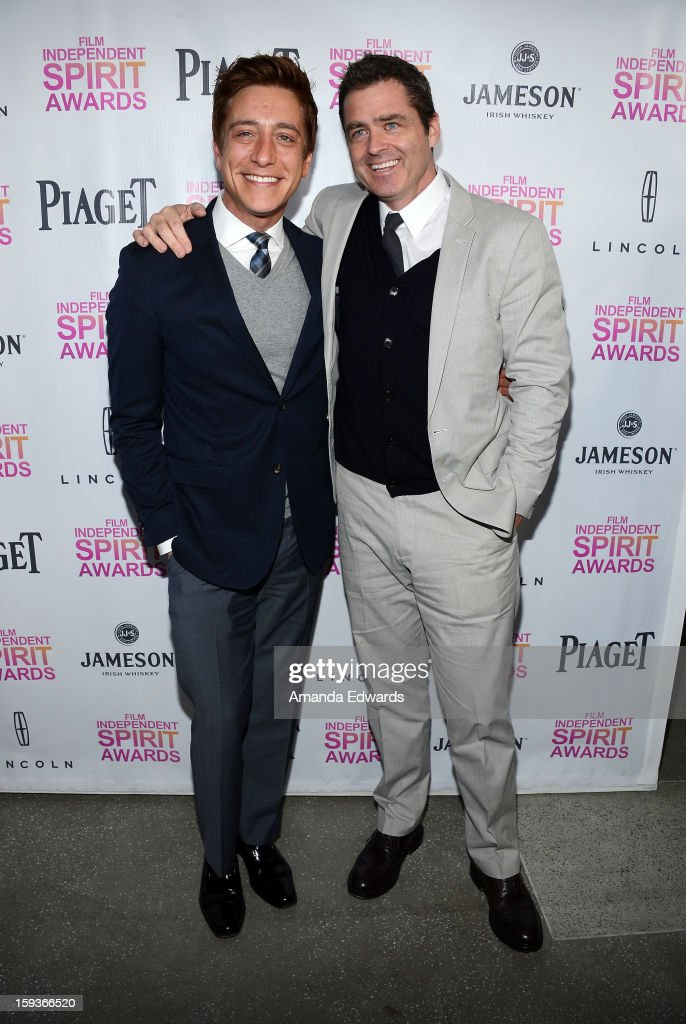 Film Independent Co-Presidents Sean McManus (L) and Josh Welsh arrive at the 2013 Film Independent Filmmaker Grant And Spirit Awards Nominees Brunch at BOA Steakhouse on January 12, 2013 in West Hollywood, California.