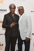 Film Independent Curator Elvis Mitchell and actor Courtney B Vance attend An Evening With'The People vs OJ Simpson' during the 2016 Los Angeles Film...