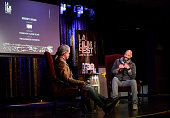 Film Independent curator Elvis Mitchell and actor John Ridley speak onstage during Diversity Speaks In Conversation during the 2015 Los Angeles Film...